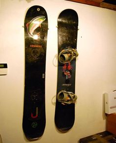 How to Hang your Snowboard in 15 mins and $5. For Charles' move.