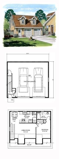 Apartment Plans garage apartment plan 64817 | total living area: 1068 sq. ft., 2