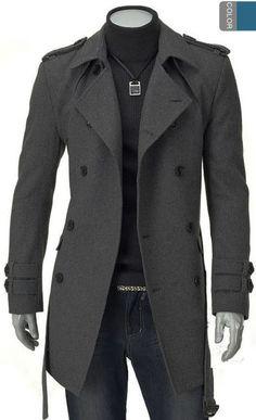 20069c05937 Winter Dress Men Overcoat Mens Long Trench Coat Windcheater Casual Jacket  Casaco Masculino Casual Cheap Winter Coats For Men