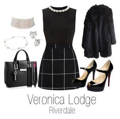 An art collage from June 2017 Veronica Lodge Outfits, Veronica Lodge Fashion, Veronica Lodge Style, Gossip Girl Outfits, Girly Outfits, Cute Casual Outfits, Pretty Outfits, Fashion Outfits, Womens Fashion