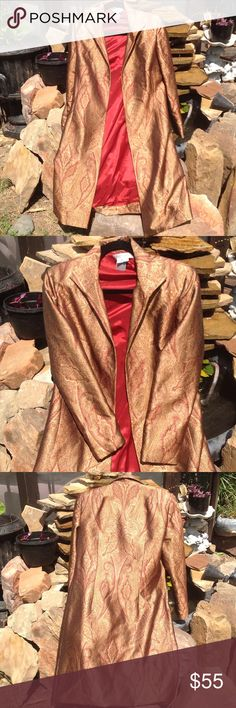 Kay Unger 💯% silk jacket 10 Silk, open front, without pockets Kay Unger Jackets & Coats