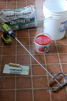 I was TERRIFIED to pour self levelling cement over my kitchen floor but after reading a ton about it online I did it. And it worked GREAT. Tutorial here. click the image or link for more info. Rubber Flooring, Diy Flooring, Kitchen Flooring, Flooring Ideas, Granite Kitchen, Laminate Flooring, Home Decor Colors, Colorful Decor, Self Leveling Floor