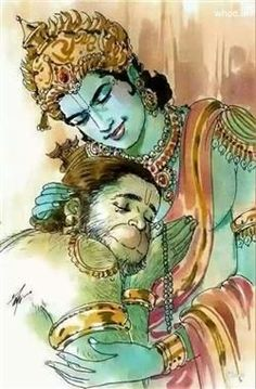 The Colourful Image Of Lord Shri Ram And Lord Hanuman With Thier Milan. Krishna Statue, Krishna Art, Hare Krishna, Lord Sri Rama, Shri Ram Wallpaper, Hanuman Ji Wallpapers, Ram Hanuman, Lord Rama Images, Lord Shiva Painting