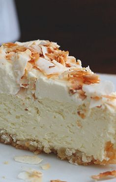 Coconut Cheesecake with Macadamia Nut Crust- thinking for brians birthday!
