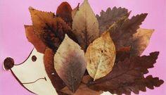 Pyssel för barn – gör en igelkott av höstlöv och papper