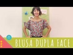 Descomplica! Aprenda a costurar uma blusa dupla face de amarrar - YouTube