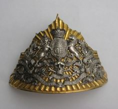 A scarce officer`s 17th Lancers Chapska (helmet) plate with battle honours upto and including Crimea, 1854