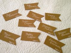 A little different take on Escort Cards