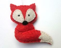 Felt fox ornament - Christmas home decoration with woodland animals eco-friendly decor for nature themed Baby shower by grabacoffee on Etsy https://www.etsy.com/listing/267179790/felt-fox-ornament-christmas-home