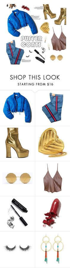 """puff"" by amara-fiara ❤ liked on Polyvore featuring 3.1 Phillip Lim, Gucci, Yves Saint Laurent, Mykita, Bobbi Brown Cosmetics, LAQA & Co., Devon Leigh, chic, simple and casualoutfit"