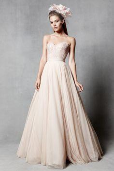 Blush wedding gown