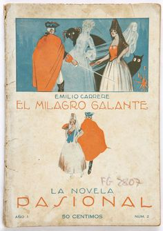 Book covers from Spain circa 1900-1930