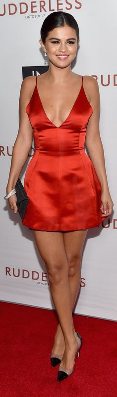 Pin for Later: Selena Gomez Shows Us Why We All Need a Little Red Dress in Our Closets