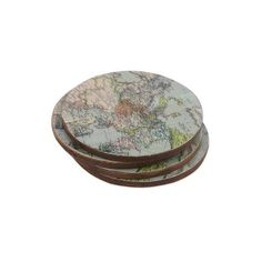 NOVICA Handcrafted Set of 4 Indian Wood Coasters with Map of Europe (£19) ❤ liked on Polyvore featuring home, kitchen & dining, bar tools, barware, coasters, homedecor, tableware & entertaining, wood coasters, map coasters and wooden coasters