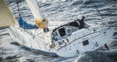 Technofirst Face Ocean, skipper Sebastien Destremau (FRA) Aerial illustration of start of the Vendee Globe, in Les Sables d'Olonne, France, on November 6th, 2016 - Photo Vincent Curutchet / DPPI / Vendée GlobeTechnofirst Face Ocean, skipper Sebastien De