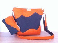 Orange/black shoulder bag with mobile bag by ManaUk on Etsy Black Shoulder Bag, Handmade Bags, Diaper Bag, Orange, Trending Outfits, Unique Jewelry, Etsy, Vintage, Fashion