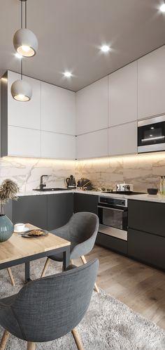 trendy home desng modern interior Luxury Kitchen Design, Home Design, Design Ideas, Design Studio, Design Design, Modern Design, Graphic Design, Apartment Kitchen, Home Decor Kitchen
