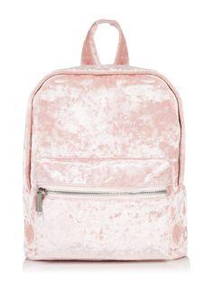 Skinnydip Pink Velvet Mini Backpack