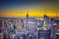 Midtown Sunset   Kind of a surreal view of Manhattan from the Top of the Rock. By Matt Burke