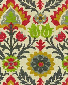 (Molly) Waverly Sun N Shade Outdoor Fabric- Santa Maria  Jewel, , hi-res