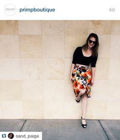 Floral skirt $34. Regram. @ Primp Boutique
