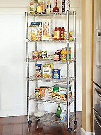 Storage Rack Gain instant extra storage with this slim, rolling rack. Extra Storage, Storage Rack, Storage Shelves, Storage Spaces, Shelf, Kitchen Storage Units, Kitchen Shelves, Kitchen Organization, Organization Ideas