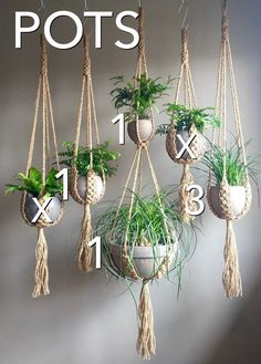 Macrame Materials – Whatever You Need To Get Rolling! Hanging Plants Outdoor, Macrame Hanging Planter, Hanging Planters, Indoor Plants, Hanging Succulents, Macrame Plant Hanger Patterns, Boho Hippie, Decoration Plante, Malibu Beaches
