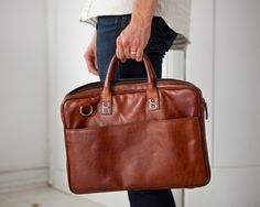 The Leather Kingston Laptop Briefcase