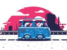 Full size bus illustration