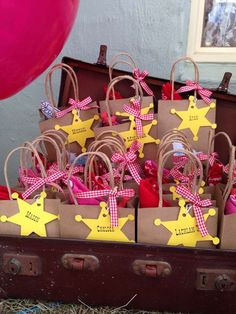Cowboy birthday party favors! See more party planning ideas at CatchMyParty.com!