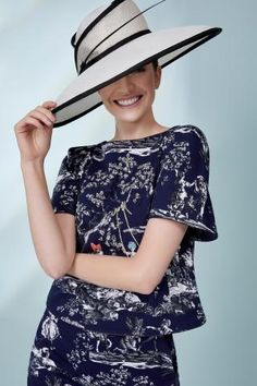 Hat, £395, by Marzi; top, £289, and trousers, £259, both Weekend Max Mara, all in store at Fenwick