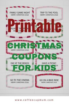 printable coupons for kids this Christmas