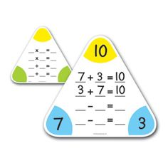 Write & Wipe Fact Family Boards - Tier 3 - Multiplication & Division - Operations & Algebraic Thinking - Math - Intervention - Intervention - Learning Resources®