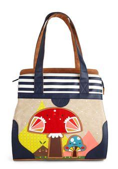 Mushroom of One s Own Tote by Crowded Teeth Tote Backpack, Tote Bag, Summer  Bags 4914ff3812