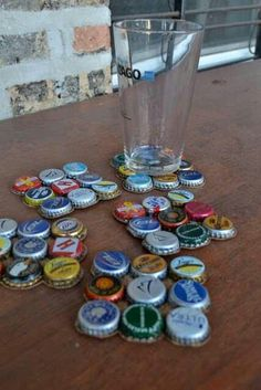 Bottle Cap Coasters