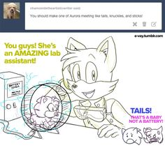 E-vay says... <<Amy and Sonic in the corner. XD