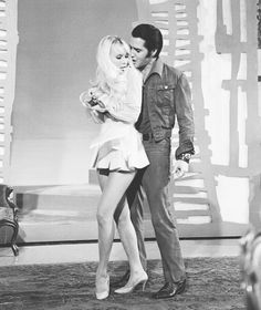 1968 6 24 Elvis and Susan Henning filming the '68 Comeback Special, NBC Studios
