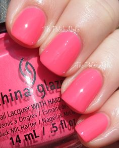 China Glaze Spring 2014 City Flourish Collection Swatches-peonies & park ave