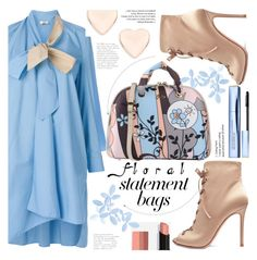 """""""Floral bag"""" by puljarevic on Polyvore featuring Fendi, Gianvito Rossi, Ted Baker, Estée Lauder and statementbags"""