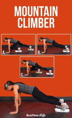Mountain Climber | 12 Incredible Abs Exercises You Should Know - BuzzFeed News