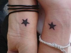 Cute Couple Star Tattoo