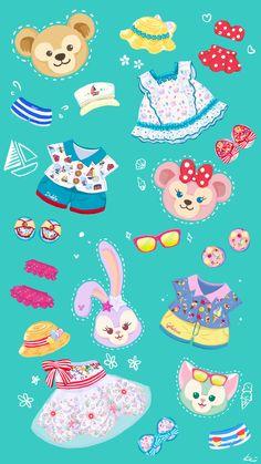 Duffy The Disney Bear, Wallpaper Iphone Cute, Disney Parks, Pikachu, Cartoon, Stickers, Prints, Fictional Characters, Rain