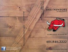 Menu concept for The Deli Newport in Newport RI. 8.5x11 trifold on 100#gloss eco-friendly text paper with soy based inks.