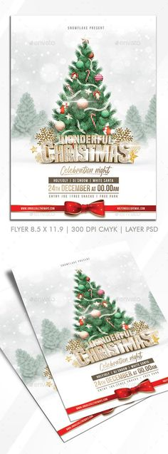 Buy Christmas Party Flyer Design by ApinZilla on GraphicRiver. Spesifikasi Format cm + bleed) 300 dpi Cmyk Print ReadyWell Organized LayersVery Simple To CustomizePh.