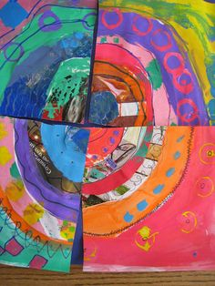Going around in circles...collaborative art, 1/4 yours, 3/4 by those engaged with process.