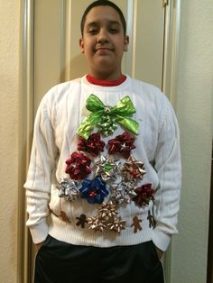 bad santa 034 ugly 034 tacky christmas sweater medium mens l k lights diy to try pinterest tacky christmas santa and lights - Homemade Ugly Christmas Sweaters