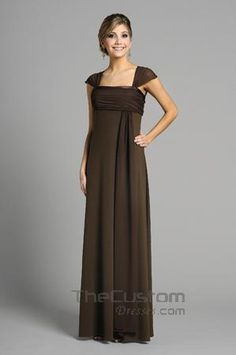 A-line Square Floor-length Chiffon Bridesmaid Dresses 14305300