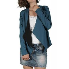 Sacou Dama VERO MODA Crystal Majolica Blue Duster Coat, Crystals, Jackets, Blue, Fashion, Down Jackets, Moda, Fashion Styles, Crystal