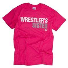 Pink sister wrestling shirt