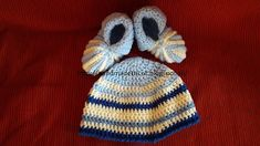 Handmade tricotaje: Botosei si caciulita crosetata